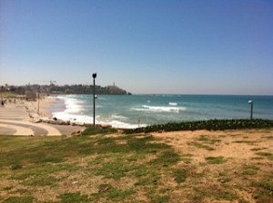 View of the Mediterranean Sea outside Image Bank Israel offices