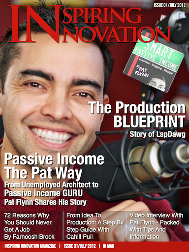 Pat Flynn on the Inspiring Innovation Magazine cover