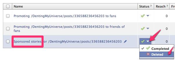 Delete Sponsored Stories Unit For Promoted Facebook Posts