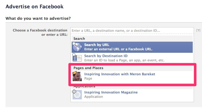 Facebook - Create Page Post Ad - Select Page v2