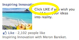 Facebook Engagement Ads - Call For Action