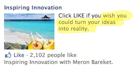 Facebook Engagement Ads - Stir emotion text