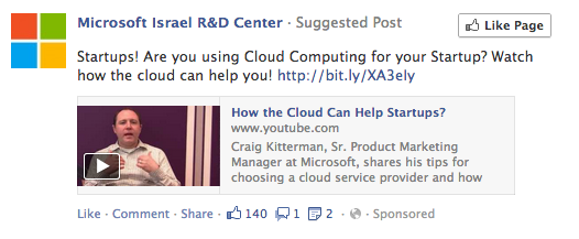 Facebook Page Post Ad