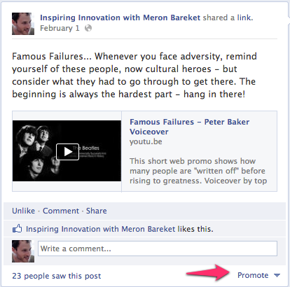 How To Promote Your Post On Facebook