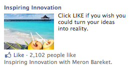 Inspiring Innovation Facebook Engagement Ads Example