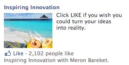 Inspiring Innovation Facebook Engagement Ads Example