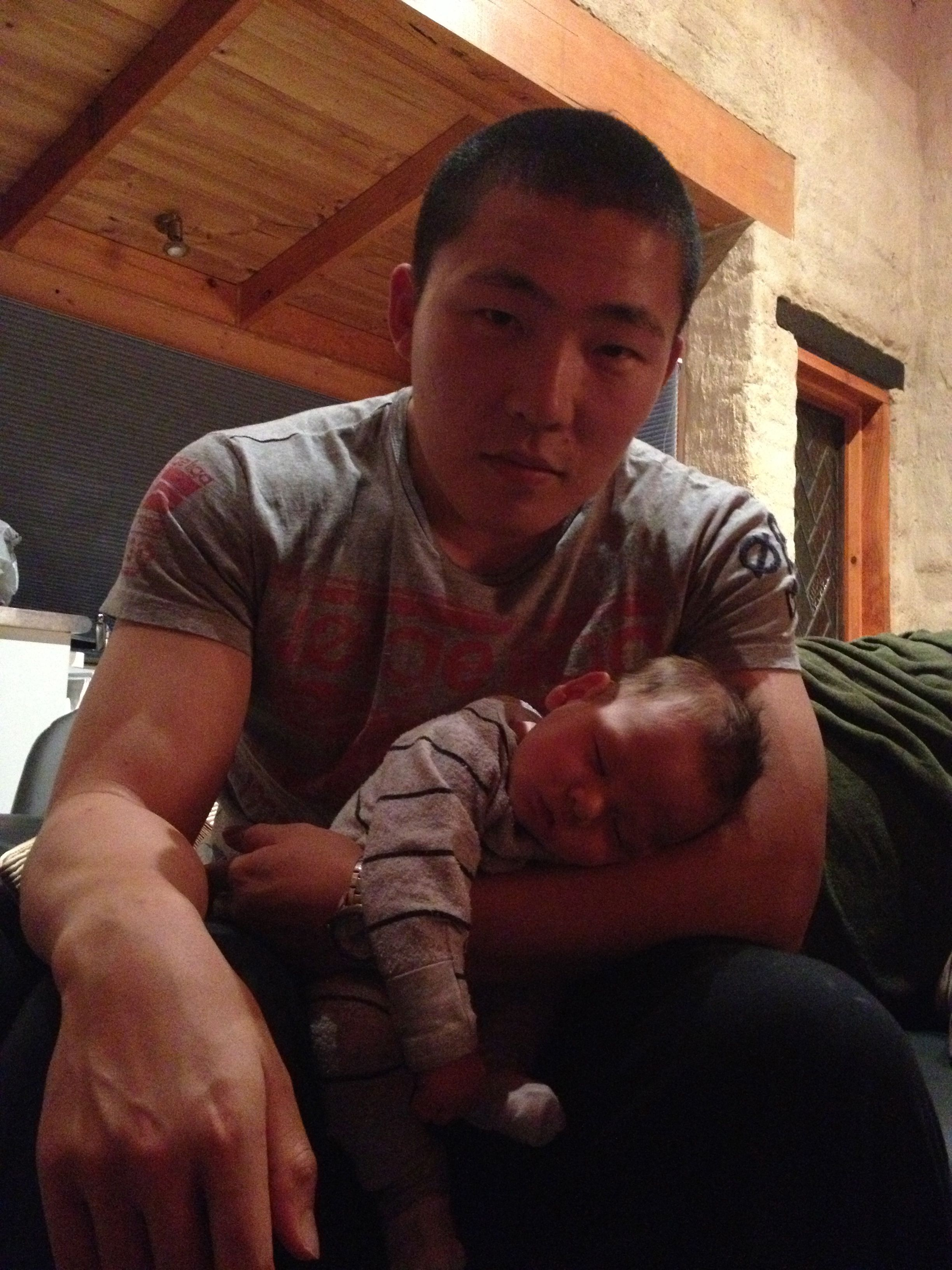 David Shen with his baby