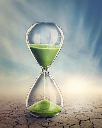 an Hourglass running our