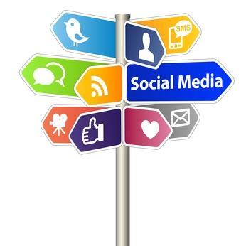 Signs of social media networks