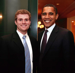 Barak Obama and John Corcoran
